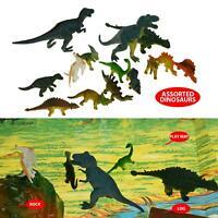 Dinosaur Playset Toys Set of 18 Large Plastic Jurassic Era Action Figures Named
