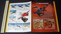 Vintage 1990s Elite Skywarriors Solid Wood Handmade Aircraft Model Catalogue