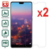 2X Tempered Glass Screen Protector Film For Huawei P20 P9 P8 Lite Mate 10 V10 7X