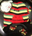 Sock Monkey Hat Rasta Style Winter Stocking Cap Adult Size New With Tags