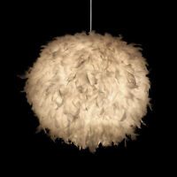 modern iracus white feather wing ceiling light pendant lamp chandelier fixture ebay. Black Bedroom Furniture Sets. Home Design Ideas