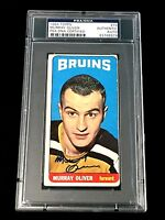 MURRAY OLIVER SIGNED TOPPS 1964 TALL BOYS BOSTON BRUINS CARD #79 PSA/DNA AUTO