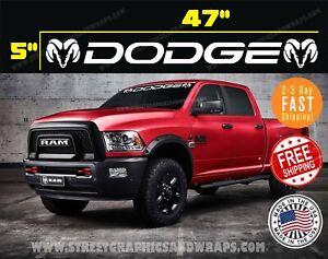 "DODGE RAM TRUCK Windshield Vinyl Decal Sticker Banner 47"" USDM, tailgate, Dakota"