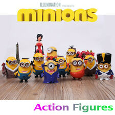 New Set of 11pcs Despicable me 2 Cute Movie Character Figures Minions Doll Toy