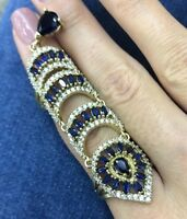 Turkish Handmade Sterling Silver 925 Sapphire Ring Ladies 6 7 8 9 10