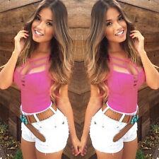 Sexy Chaleco de verano de las mujeres Top blusa sin mangas Casual Tank Tfws