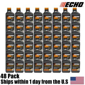 48 Pack Echo Oil 6.4 oz Bottles 2 Cycle Mix for 2.5 Gallon – Power Blend 6450025