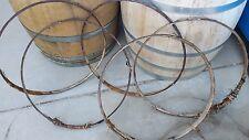 Five Used Wine Barrel Willow Hoop Bands