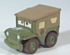 """Disney Pixar Cars Sarge 1942 Willys WW2 Army Jeep 1.5"""" Scale Model"""