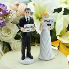 'I'm with ......' Bride and Groom Wedding Cake Topper