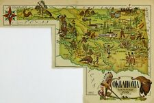 Oklahoma Antique Vintage Pictorial Map