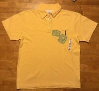 NWT Old Navy Boy's Yellow Short Sleeve Polo Shirt - Size: Large 10/12