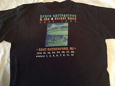 Bruce Springsteen/E Street Band T-Shirt Large 1999 East Rutherford, Nj