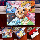 USA Pokemon Coin Wallet Eevee/Flareon/Umbreon Cartoon Bifold Zipper Purse