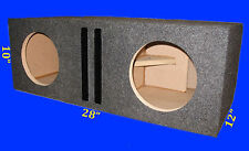"2 HOLE 8"" .60 PER CHAMBER PORTED 3/4MDF GREY SUBWOOFER SUB ENCLOSURE BOX"