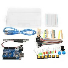 Basic Starter Kit UNO R3 Mini Breadboard LED Jumper Wire Button for Arduino