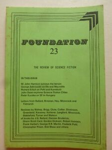 FOUNDATION; THE REVIEW OF SCIENCE FICTION No. 23, Oct 1981 – J G Ballard