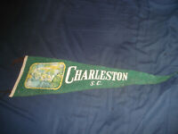 VINTAGE 1940s Charleston South Carolina wool/felt Pennant