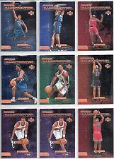 "1999-00 Upper Deck 10-card ""Rookie Illustrated"" Insert Card Lot   Lamar Odom"
