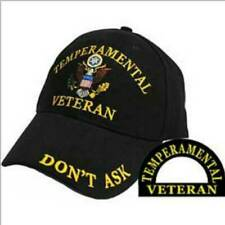 Temperamental Veteran, Gold Embroidery, High Quality Ball Cap