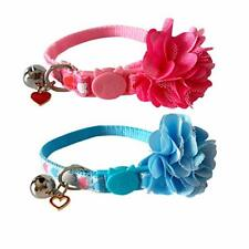 New listing 2 Pack Valentine's Day Cat Collar Breakaway with Bell and Removable Flower -
