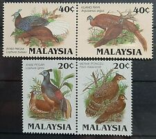 MALAYSIA PROTECTED BIRDS 1986 SG 331a + 333a MNH IN PAIR FRESH