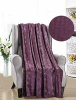 French Collection Luxurious™ Soft Throw Blanket Cover Embossed Louvre Pattern