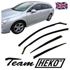 DPE26144 Peugeot 508 5 puertas 2011-up viento desviadores 4pc Heko Teñido