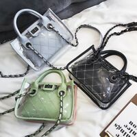 Women's Candy Handbag Transparent Clear Jelly Messenger Casual Shoulder Bag PVC