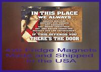In this Place We Always Man Cave DECOR SIGN 4x6 Fridge Magnet Bar Toolbox Shop