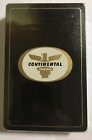 Vintage BLACK CONTINENTAL AIRLINES DECK OF PLAYING CARDS Sealed
