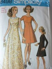 VINTAGE 1960'S GORGEOUS FRONT SEAM DRESS SEWING PATTERN