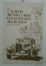 AFFICHE ANCIENNE  RALLYE AUTOMOBILE MONACO MONTE CARLO VOITURES 1978