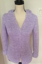 Gap Women's Knit Purple Hoodie Open Front Sweater  Size Medium EUC