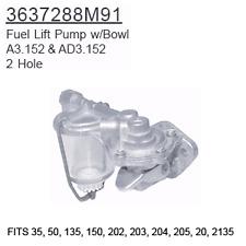 3637288M91 Massey Ferguson Parts Fuel Lift Pump w/Bowl 35, 50, 135, 150, 202, 20