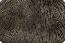 PEWTER SHAGGY LONG PILE FAUX FUR FABRIC $22.99/YD