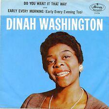 "DINAH WASHINGTON - DO YOU WANT IT THAT WAY 7"" VINYL 45 NR MINT FREE U.S. SHIP"