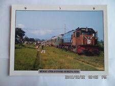 CARTE FICHE TRAIN RESEAU COTE D'IVOIRE BURKINA FASO