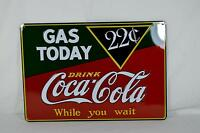 Ande Rooney Tin Sign - Coca Cola Coke Gas Today - New