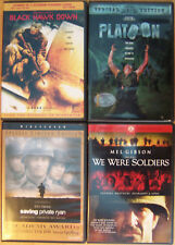 4 Great War Dvds, Platoon, Saving Private Ryan, Black Hawk Down,. (Like New)