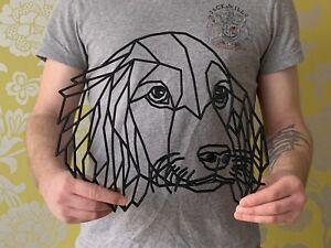 Geometric Cocker Spaniel Dog Animal Wall Art Decor 256mm X 300mm