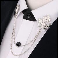 Fashion Chain Tassel Neck Clip Shirt Dress Shirt Collar Brooch Pin Jewelry