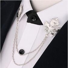 Dress Shirt Collar Brooch Pin Jewelry Fashion Chain Tassel Neck Clip Shirt