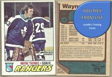 1977-78 O-Pee-Chee 77 OPC NHL Hockey Cards #200 to #396 - U-Pick From List