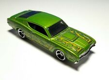 HOT WHEELS '69 MERCURY CYCLONE GREEN WITH FLAMES