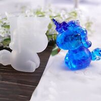 Large Unicorn Silicone Resin Mold For Diy Jewelry Pendant Mould Handmade Craft -