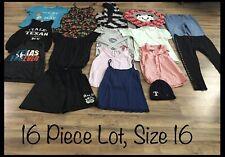 Girls Clothing Lot, 16 Items, Size 16, Dr. Seuss, Self Esteem, Magellan, Aero