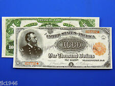 Reproduction $1000 1891 T-Note US Paper Money Currency Copy