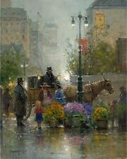G. Harvey SHOPPING FOR FLOWERS A/P Canvas 2013 Focus on the Family ARTIST PROOF