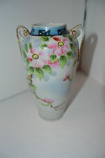 Nippon Vase Gold Moriage TE-DH Accents Flower Floral Hand Painted